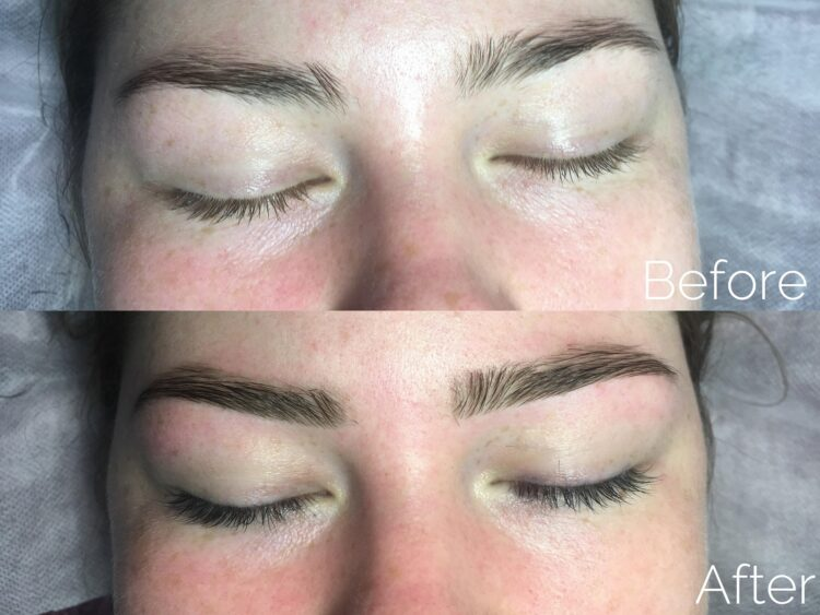Lash Tinting Before and After